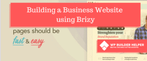 Building a Business Website using Brizy
