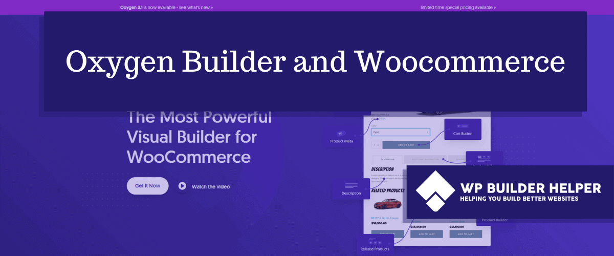 oxygen builder and woocommerce