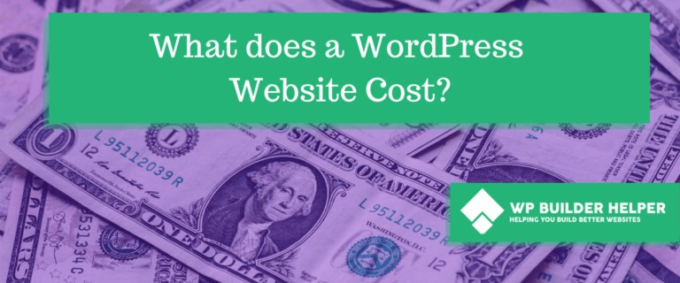 what does a wordpress website cost